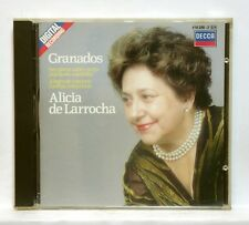 ALICIA DE LARRROCHA - GRANADOS piano works DECCA CD no IFPI full silver NM
