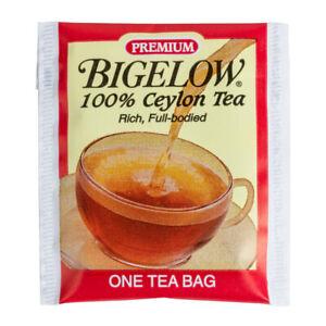 Bigelow Premium Ceylon Tea Bags 100 Per Order, NO BOX (select flavor below)