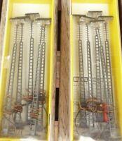 Brawa H0 10 Stück Bahnsteiglampen Bahnhofslampen der DB Epoche 3-6 aus Messing