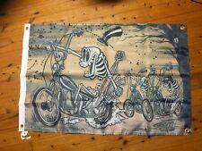 Poster printed Biker 13 Harley Davidson skeleton man cave flag  or garage flag
