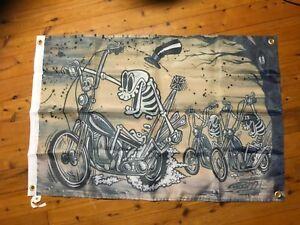 13 Harley Davidson skeleton man cave flags bar banner poster print rat fink Sign
