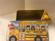 YELLOW School Bus Tin COLORFUL KIDS NICE