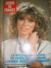 Jours de France N° 1445 11 septembre 182 Mireille Darc Mode Pierre Balmain