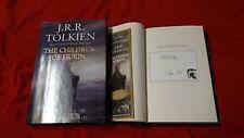 J.R.R. Tolkien Christopher The Children of Hurin Signed Book Alan Lee 1/1 HC DJ