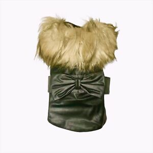 Faux Leather Jacket for Dogs XS