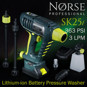 Cordless Battery Pressure washer High Power Portable - NORSE Professional SK25i