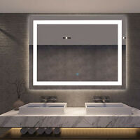 "Modern 32"" LED Bathroom Wall Mirrors with Illuminated Light Makeup Vanity Mirror"