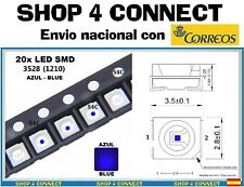 20 Diodos LED SMD AZUL BLUE 3528 1210 20ma SMT CAR automocion ARDUINO 3.5 x 2.8