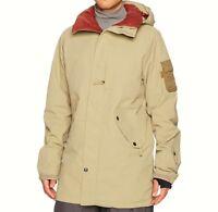 THIRTYTWO Men's DEEP CREEK Snow Jacket - Sand - Large - NWT