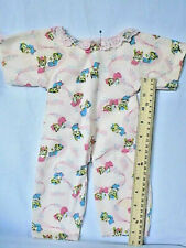 """Vintage Flannel Sleeper Pajamas for Baby Doll 12"""" - 14"""", Needs Finishing"""