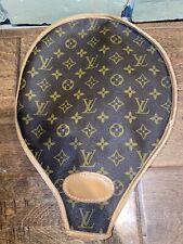 Gorgeous Vintage  Louis Vuitton Tennis Racket Cover Monogram Flower