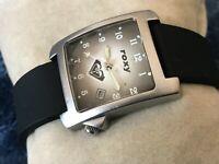 Roxy Watch Date Calendar Black Rubber Band Ladies Wrist Watch