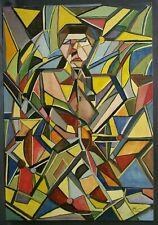 Tableau 1960 Coloriste Huile sur panneau signature A. Rigollot Delaunay