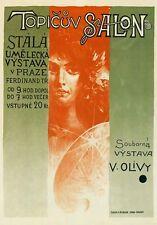 Ap41 Vintage Praga exposición de arte tema Salon Publicidad Cartel Tarjeta A5