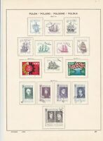 poland 1964 cats & ships + mixed stamps page ref 17260