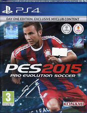 PES 2015 Pro Evolution Soccer 15 Playstation 4 DAY ONE EDITION