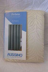 """Aussino Zebra Fabric Shower Curtain 70"""" x 72"""" NIP"""