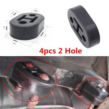 4pcs 2 Hole 11.5mm Car Rubber Exhaust Tail Pipe Mount Brackets Hanger Insulator