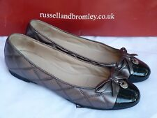 Russellbromley women's shoes/ballerinas/size 5.5/38.5/black/mettalic/sapatos