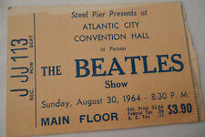 THE BEATLES Original__1964__CONCERT TICKET STUB__Atlantic City__EX+