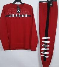 NIKE AIR JORDAN FLEECE SWEATSUIT CREW SWEATSHIRT +PANTS RED NWT (SIZE 2XL / 3XL)
