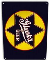 Gluek's Beer Retro Star Logo Bar Man Cave Garage Wall Art Decor Metal Tin Sign