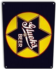 Gluek's Beer Retro Star Logo Bar Man Cave Garage Wall Art Decor Metal Tin Sign