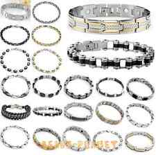 Stainless Steel Cool Bangle Metal Magnetic Bracelet Cuff Wristband Men's Punk