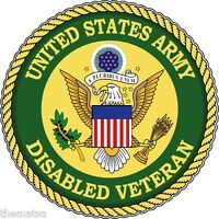 ARMY DISABLED VETERAN CAR BUMPER STICKER DECAL MADE IN USA