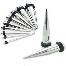 Pair-Tapers Solid Steel 05mm/4 Gauge Body Jewelry