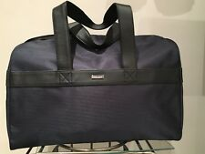 Giorgio Armani Diseñador Gimnasio de lona bolsa de viaje de fin de semana Azul Marino