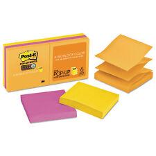 Post-it Pop-up 3 x 3 Note Refill Rio de Janeiro 90-Sheet 6/Pack R3306SSUC
