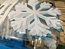 Christmas Frozen Snowflake Bunting Decoration Paper Hanging Banner - UK Seller