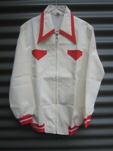 Rainbow Cream With Red Trims Jacket