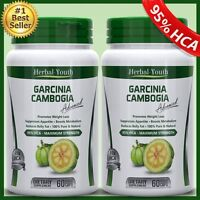 2 BOTTLES 3000mg 100%PURE GARCINIA CAMBOGIA Capsule Pill 95% HCA WeightLoss Diet