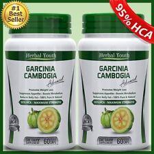 2 BOTTLES 3000mg 100%PURE GARCINIA CAMBOGIA Capsule Pill 95% HCA WeightLoss Diet