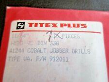 New Listingtitex Plus 1164 A1244 Cobalt Jobber Drills Type Va Pn 912011 7 Pcs
