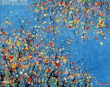 """Abstract Wildflowers Painting """"Reaching"""" Original Art, Artist Signed"""