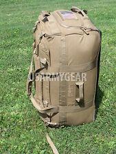 USMC Force Protector Gear Deployer 65 USGI Deployment Bag on Wheels Coyote Brown