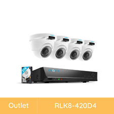 Reolink 8Ch 4Mp Security Camera Home Video Cctv Surveillance System Refurbished