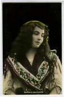 c 1905 French Cabaret Theater MAGGIE GAUTHIER pretty Lady photo postcard