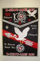 OA O-SHOT-CAW 265 S FLORIDA 2-PATCH FELT SMY 100TH ANN NOAC 2015 DELEGATE FLAP