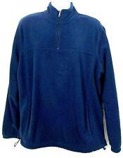 Croft & Barrow Mens Fleece Sweatshirt Blue Pullover Coat 1/4 ZIP Size XL