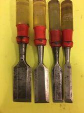 Set Of 4 Vintage Stanley Handyman Chisel No H1252 USA