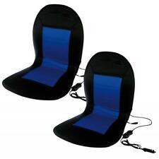 2x Auto KFZ LKW beheizbare Sitzauflage Sitzheizung 2 Heizstufen schwarz blau