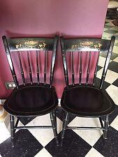 Vintage Nichols & Stone Thumb Back Side Chairs X-40-1 Set of 2