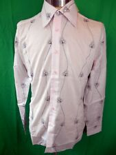 Vintage Embroidered Pink Cotton Phillips Melbourne Dress Shirt New/Old Stock S