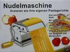 Pastamaker Pastamaschine Nudelmaschine Edelstahl Pasta Nudel Spaghetti Teig Neu