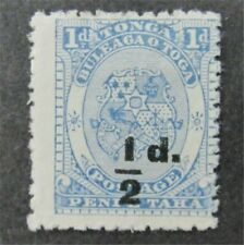 nystamps British Tonga Stamp # 16 Mint OG H $50
