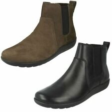 Clarks Leather Zip Boots for Women